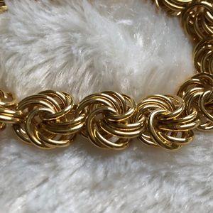 Gold Circle Link Bracelet